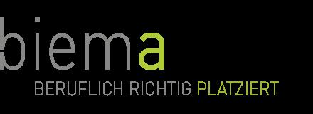 biema – beruflich richtig platziert! Retina Logo