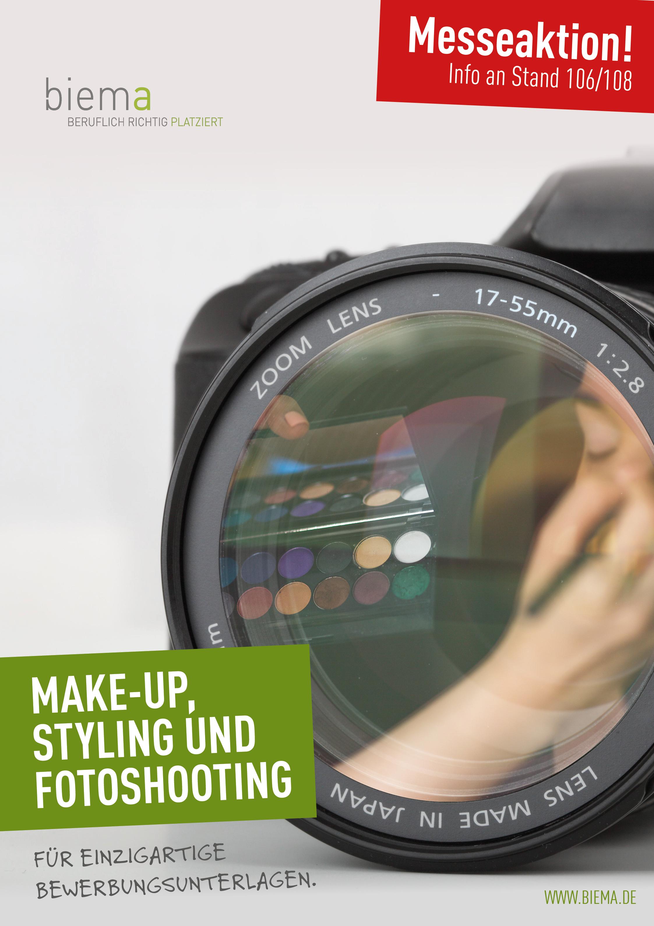 Fotoshooting, Make-Up und Styling