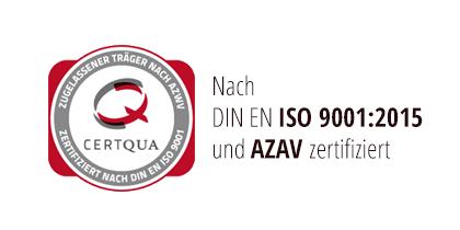 Certqua ISO und AVAZ Zertifizierung