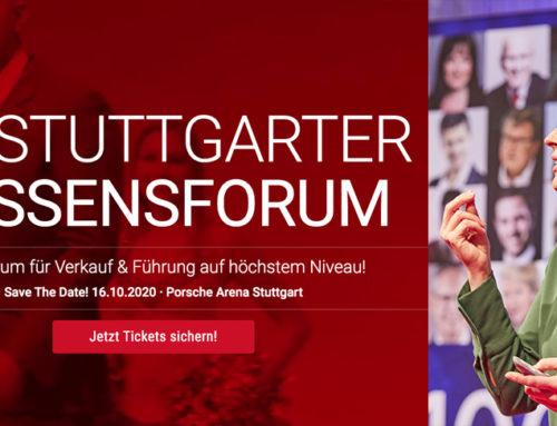 16.10.2020 – 19. Stuttgarter Wissensforum